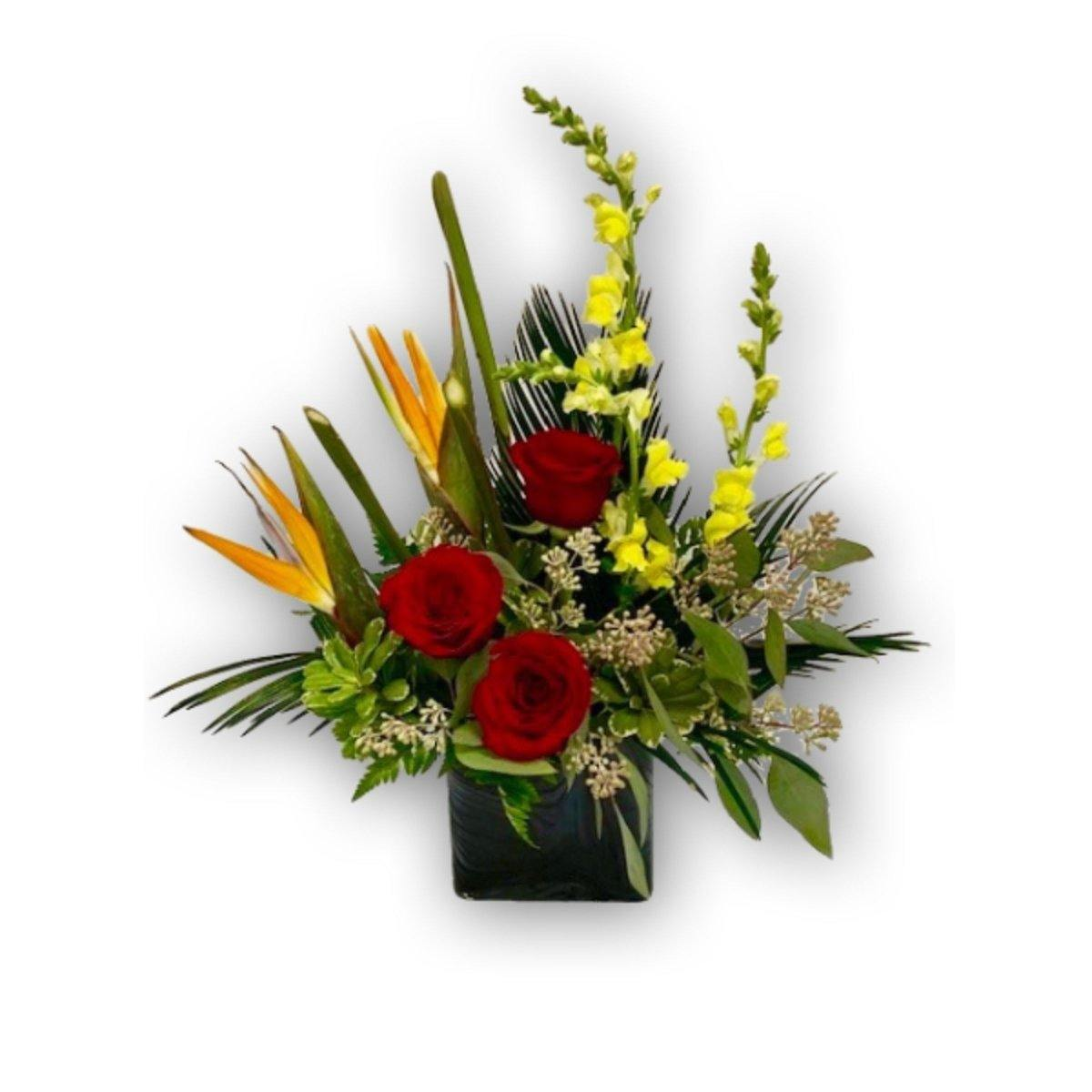 Bright Berry Rose Arrangement - Shalimar Flower Shop