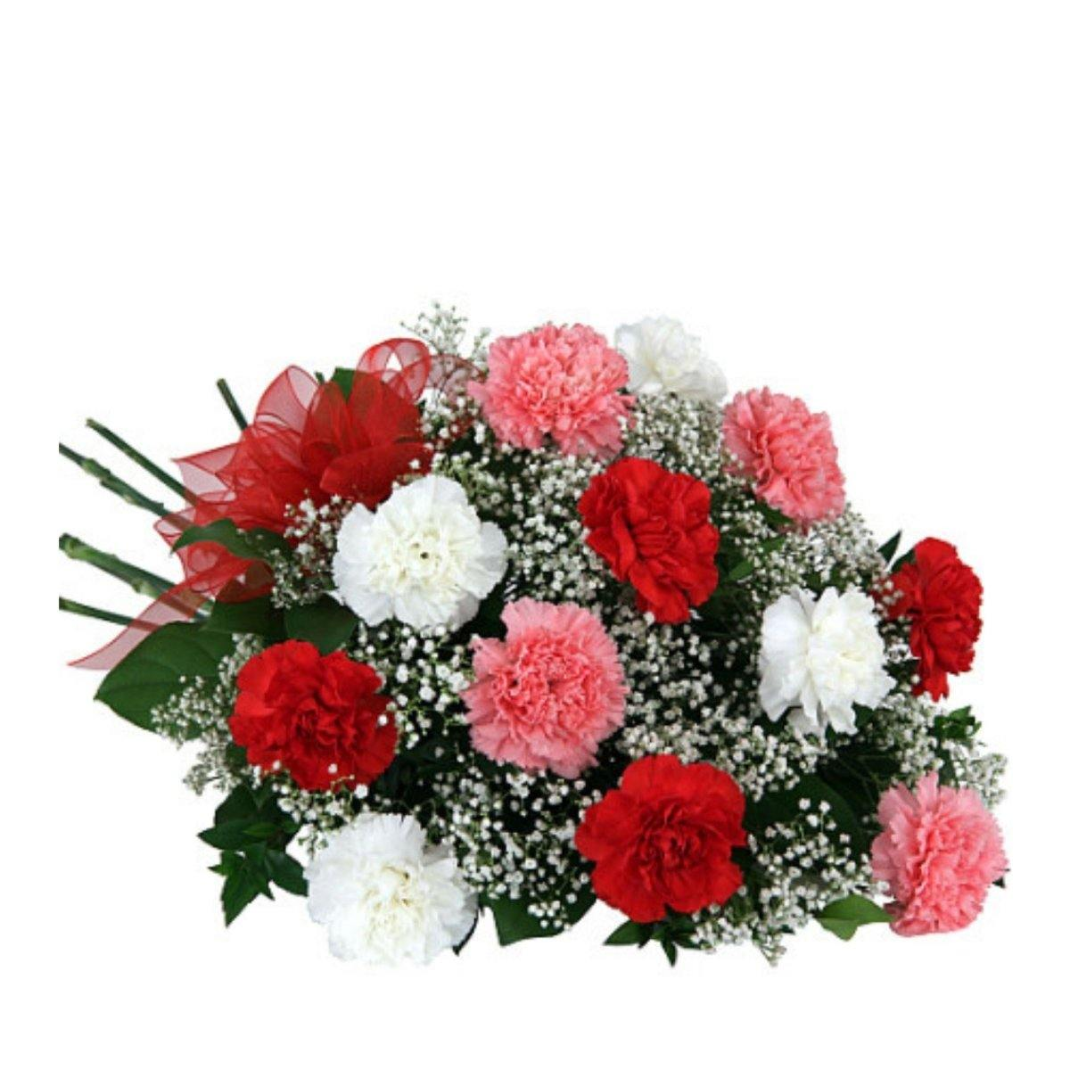 Carnation Trio Bouquet 19 - Shalimar Flower Shop