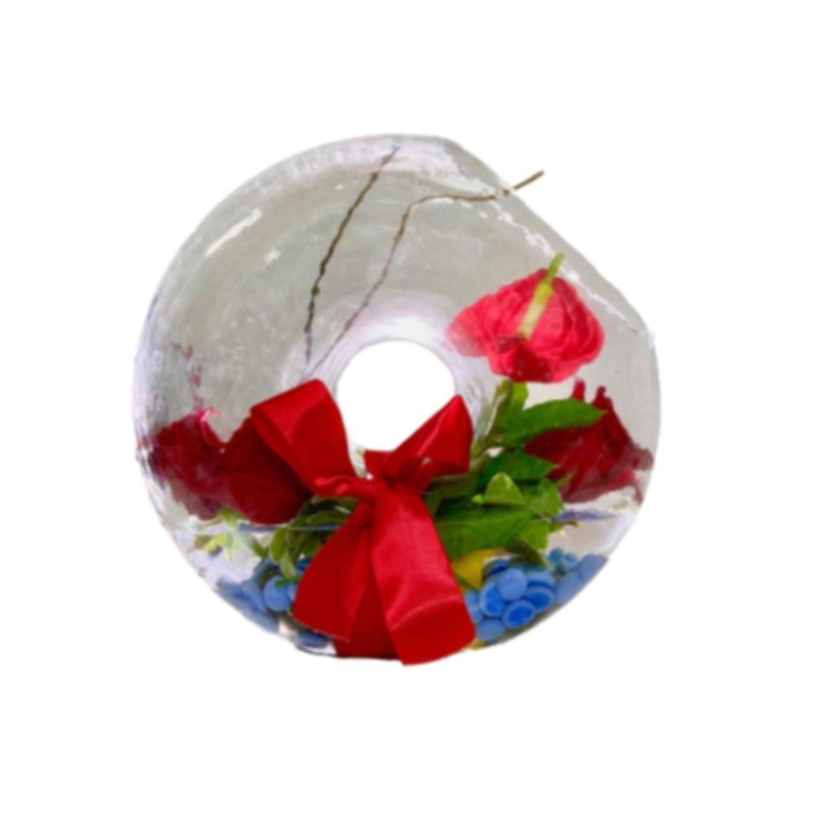 Earth's Gift Arrangement in a Donut Shaped Vase - Shalimar Flower Shop
