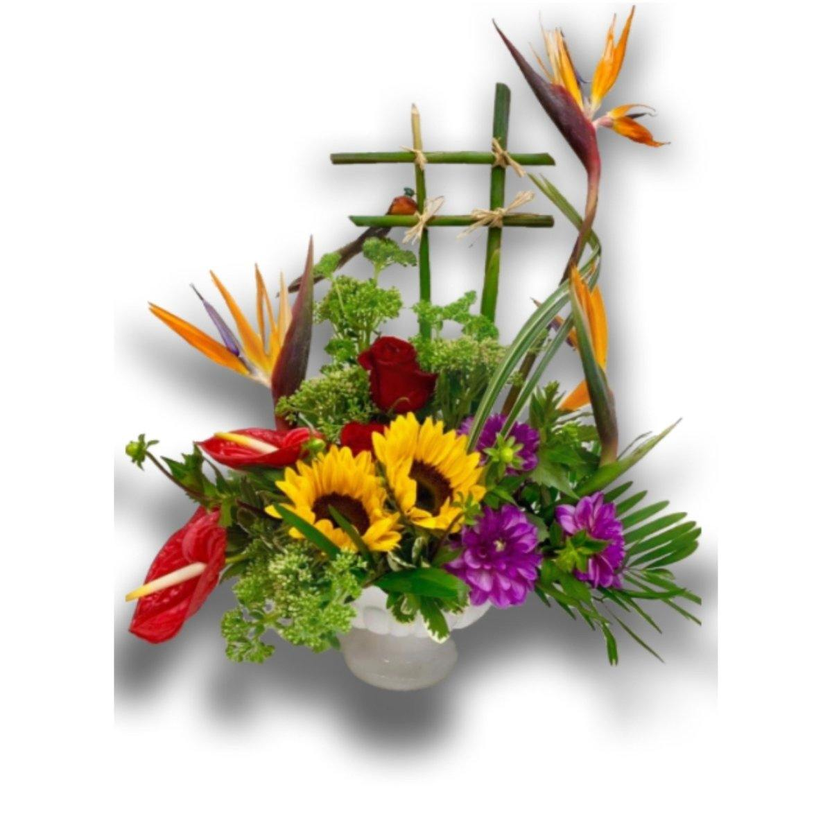 Exotic Birds of Paradise Floral Arrangement - Shalimar Flower Shop