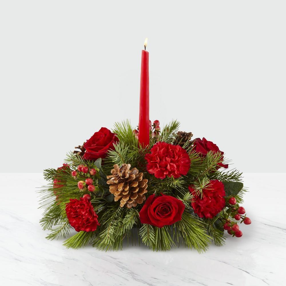 Home for Christmas Centerpiece - Shalimar Flower Shop