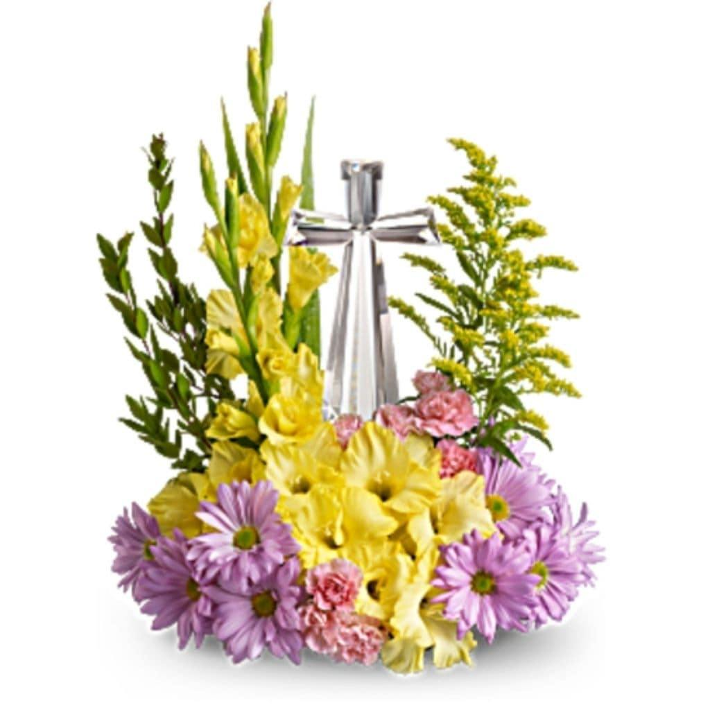 Our Crystal Cross Bouquet - Shalimar Flower Shop