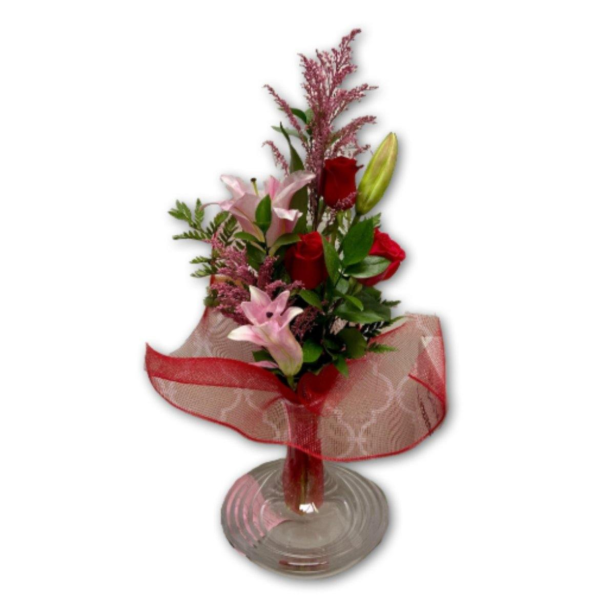Pink & Red Love Dream in Premium Polish Vase - Shalimar Flower Shop