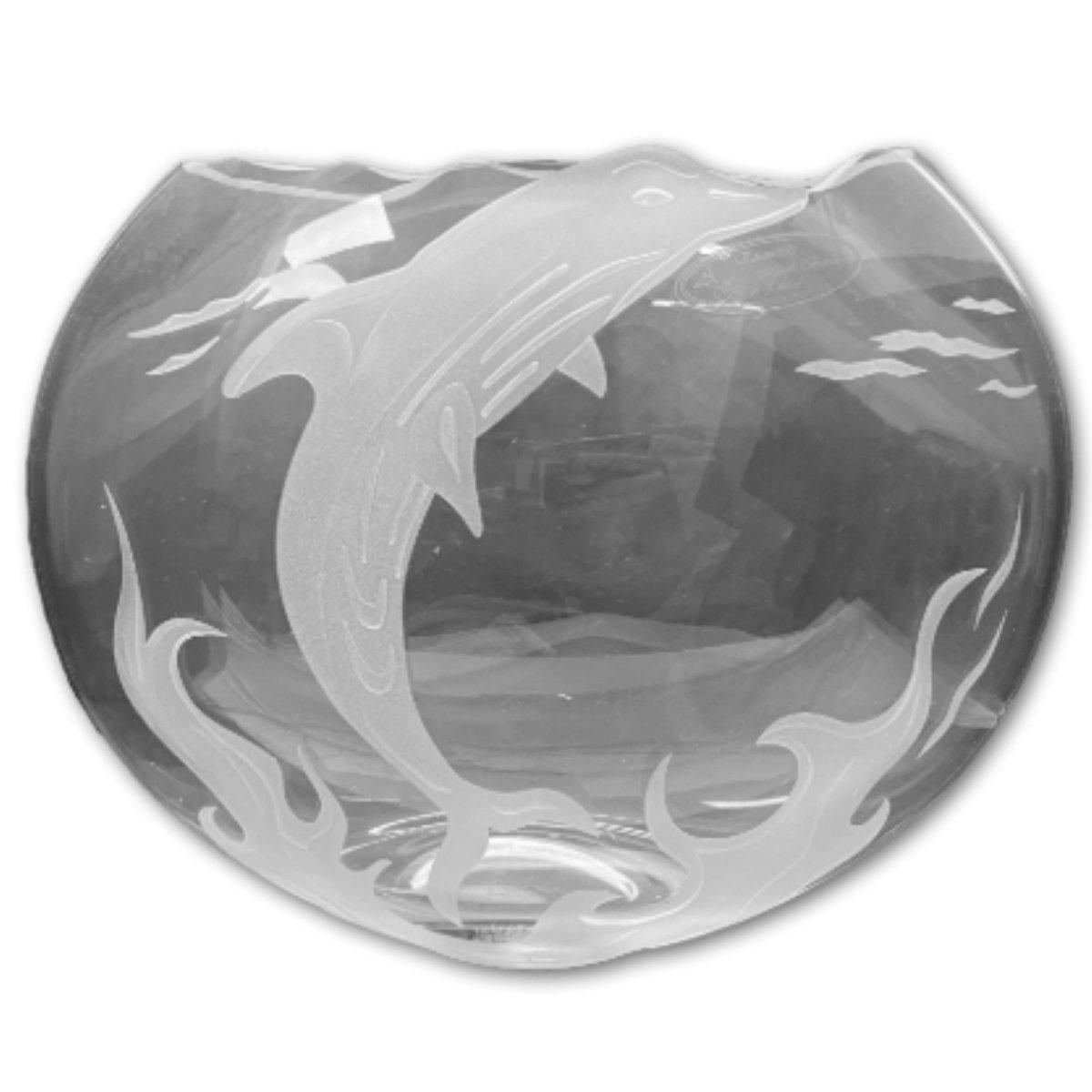 Premium Under the Sea Etched Vase - Shalimar Flower Shop