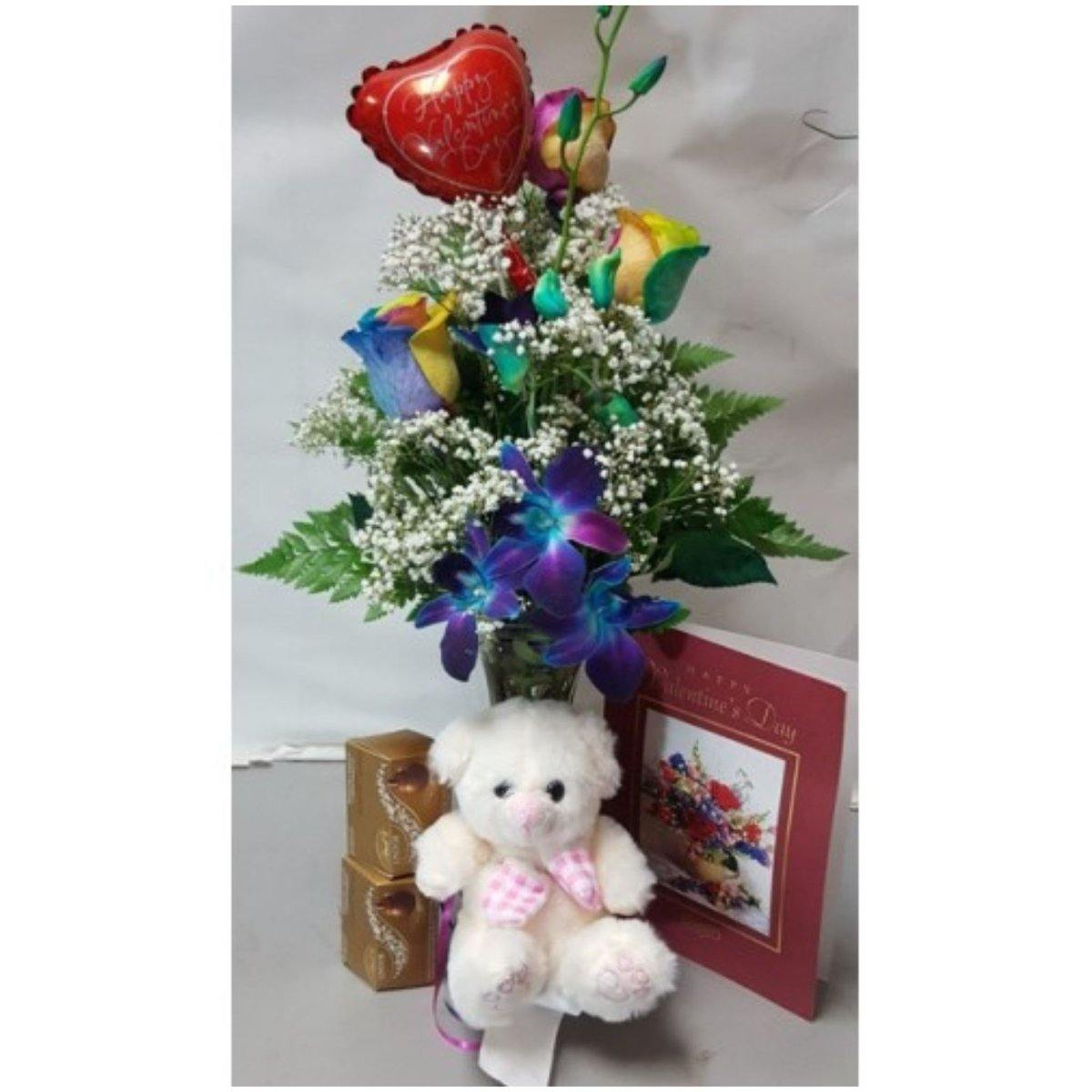 Rainbow Rose Love Combo - Shalimar Flower Shop