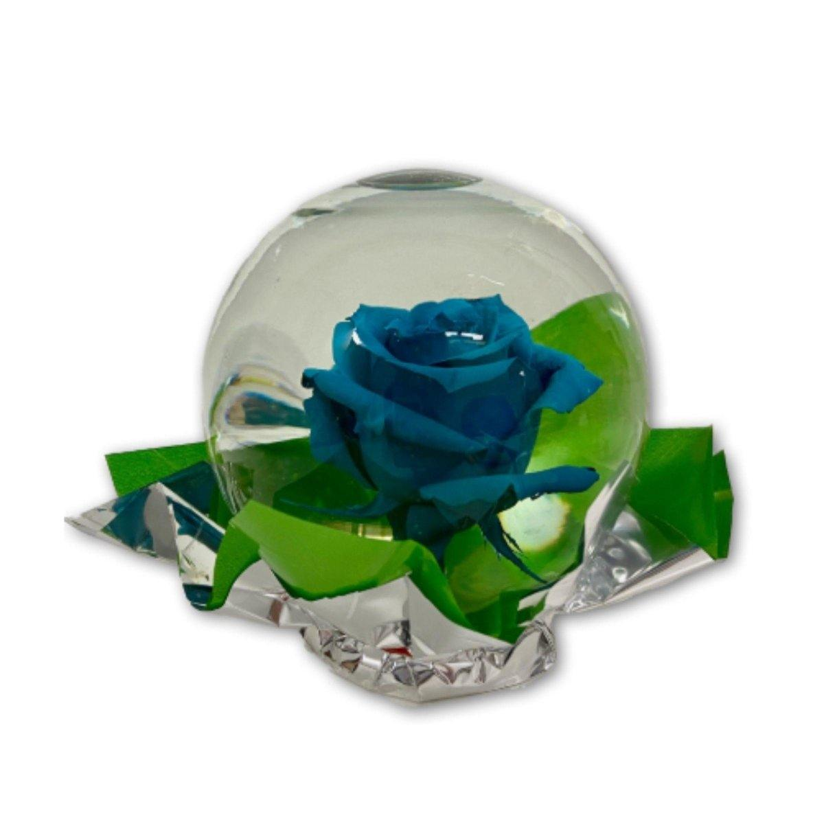 Regal Rose in Glass Orb - Shalimar Flower Shop