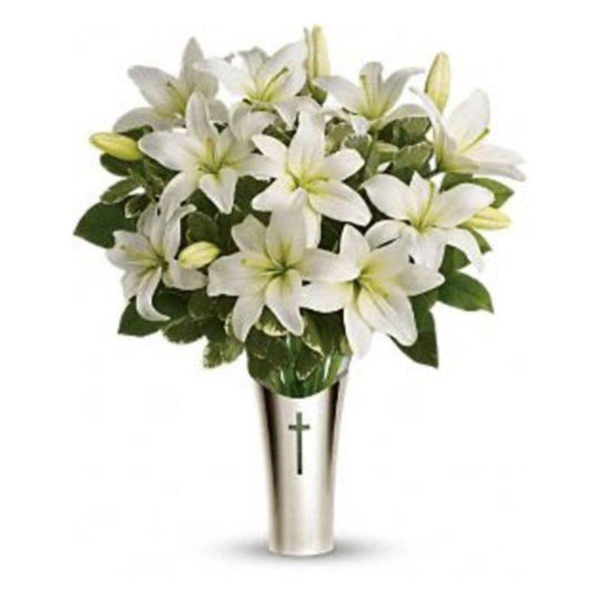 Sacred Cross Sympathy Bouquet - Shalimar Flower Shop
