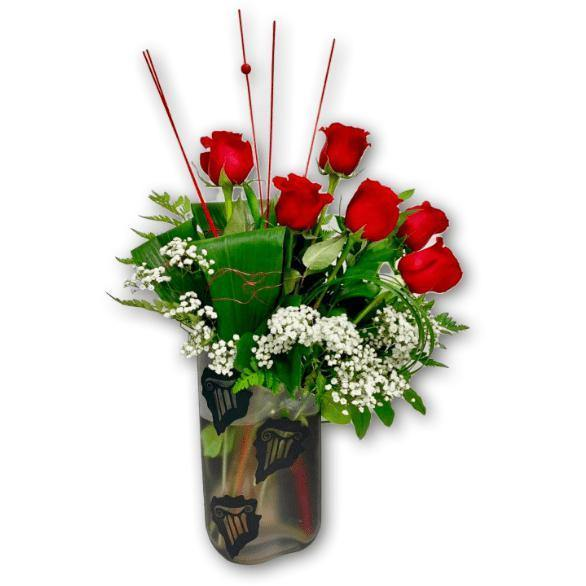 Scented Love Rose Arrangement in Premium Polish Vase - Shalimar Flower Shop