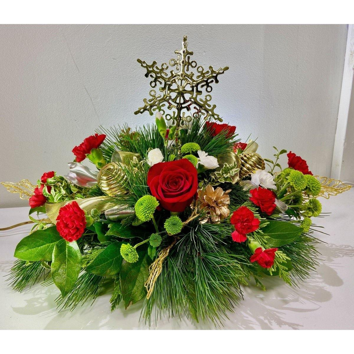 Snowflake Flurry Centerpiece - Shalimar Flower Shop