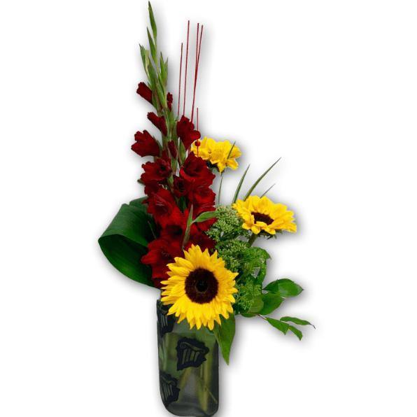Stylish Spring Arrangement in Premium Polish Vase - Shalimar Flower Shop