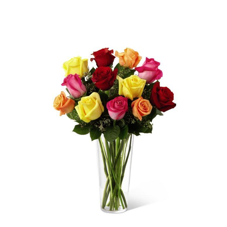 The FTD® Bright Spark Rose Bouquet - Shalimar Flower Shop