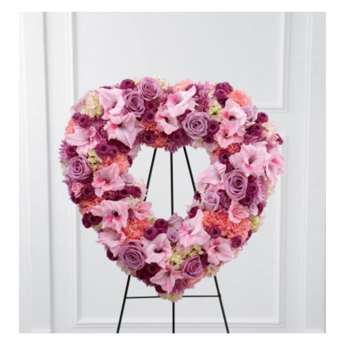 The FTD® Eternal Rest Standing Heart - Shalimar Flower Shop