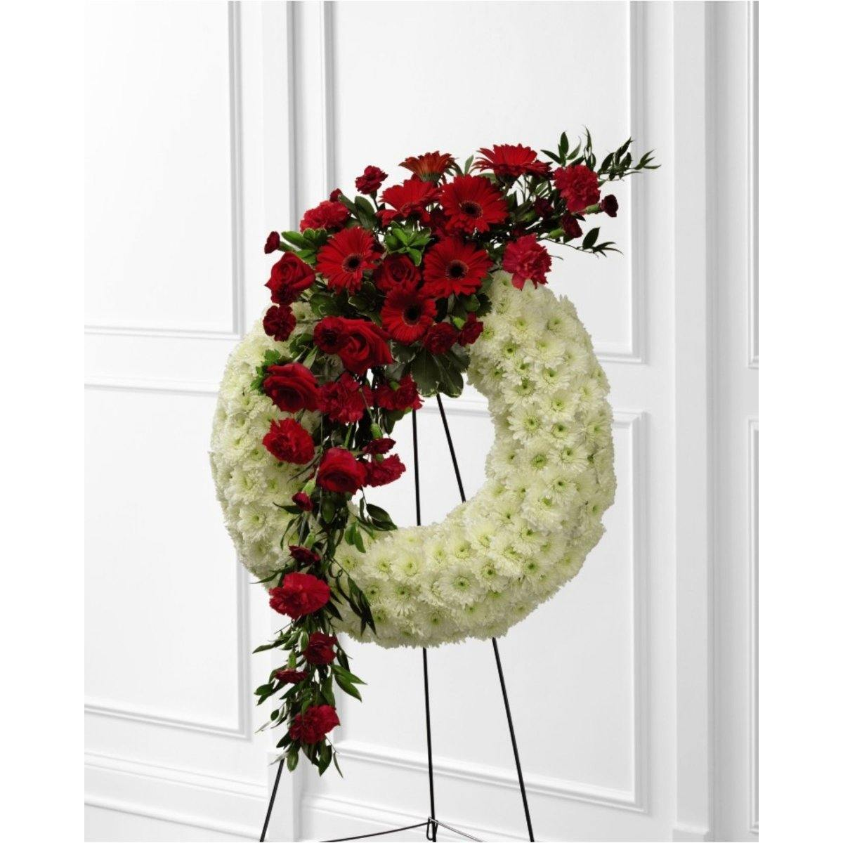 The FTD® Graceful Tribute Wreath - Shalimar Flower Shop