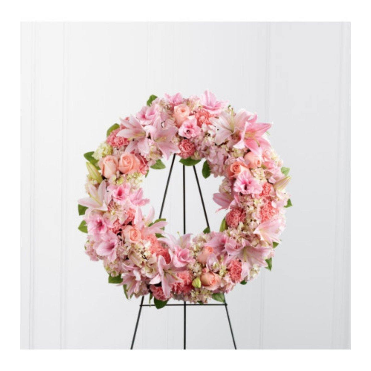 The FTD® Loving Remembrance Wreath - Shalimar Flower Shop
