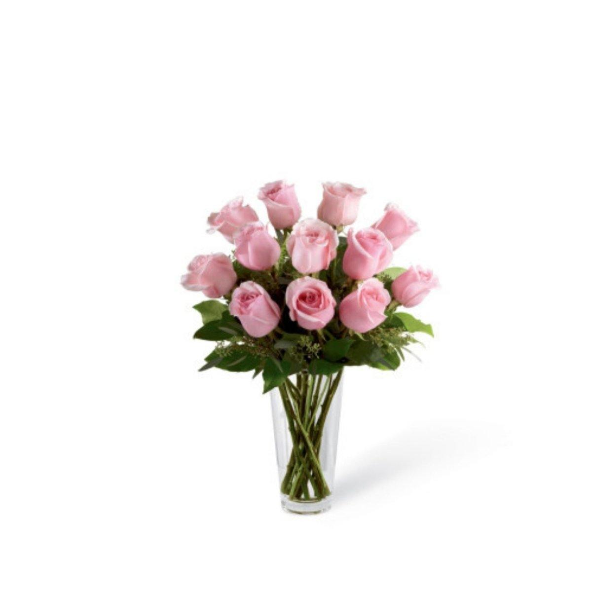 The FTD® Pastel Pink Rose Bouquet - Shalimar Flower Shop