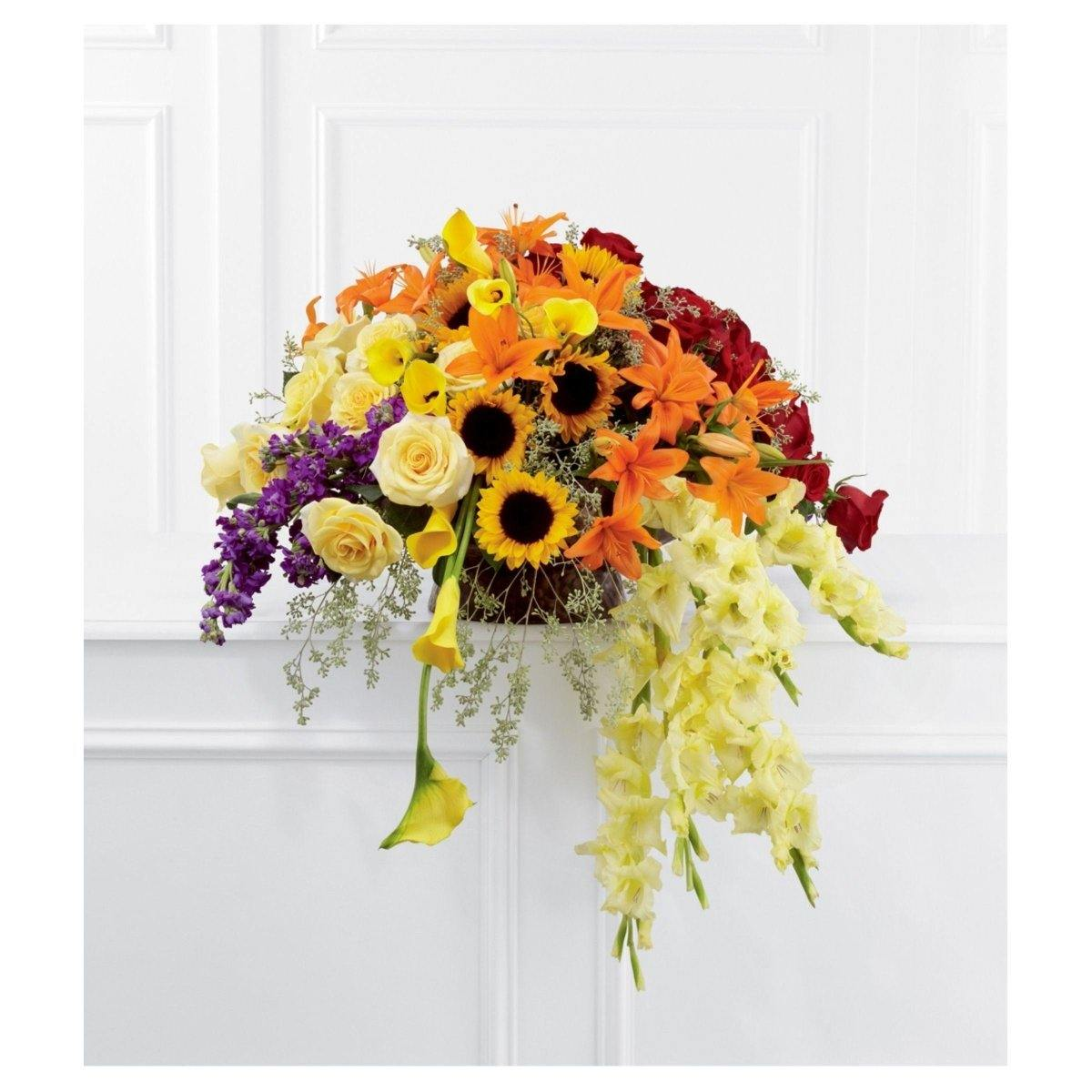 The FTD® Peaceful Tribute™ Basket Arrangement - Shalimar Flower Shop