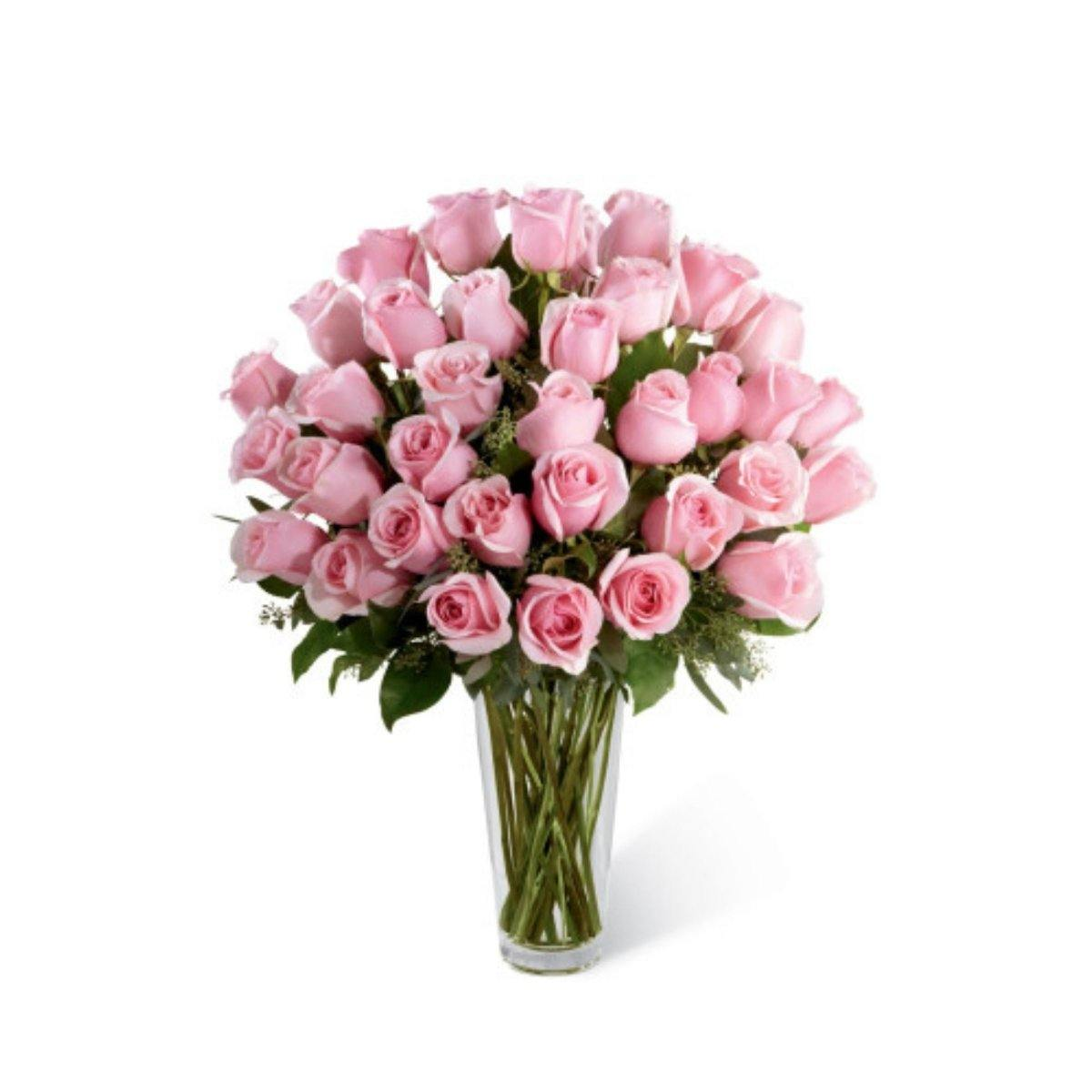 The FTD® Pink Rose Bouquet - Exquisite - Shalimar Flower Shop