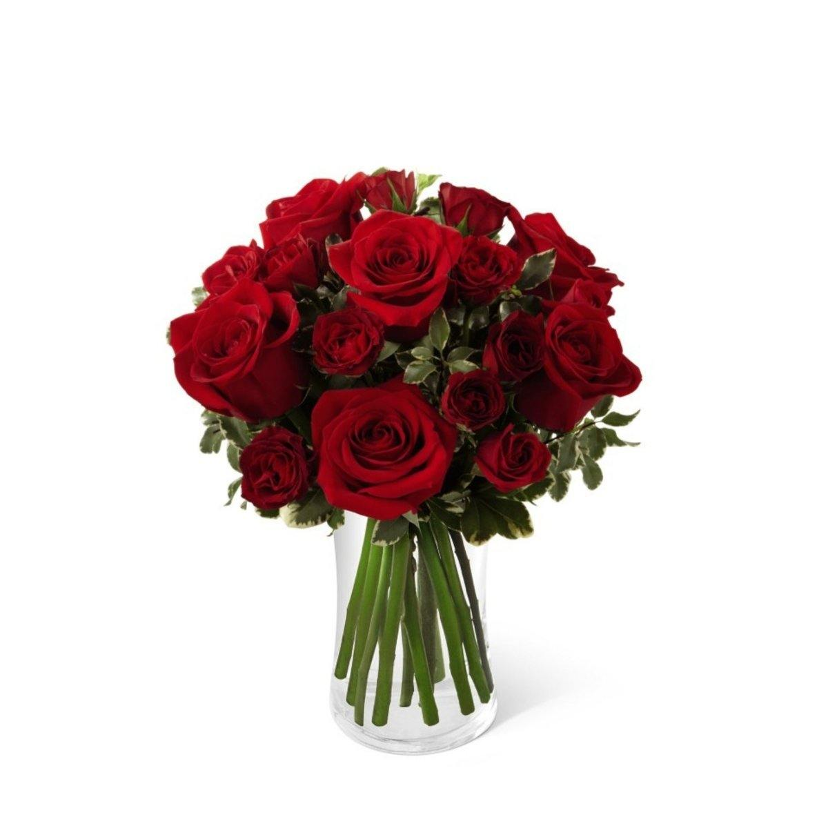 The FTD Red Romance Rose Bouquet - Shalimar Flower Shop