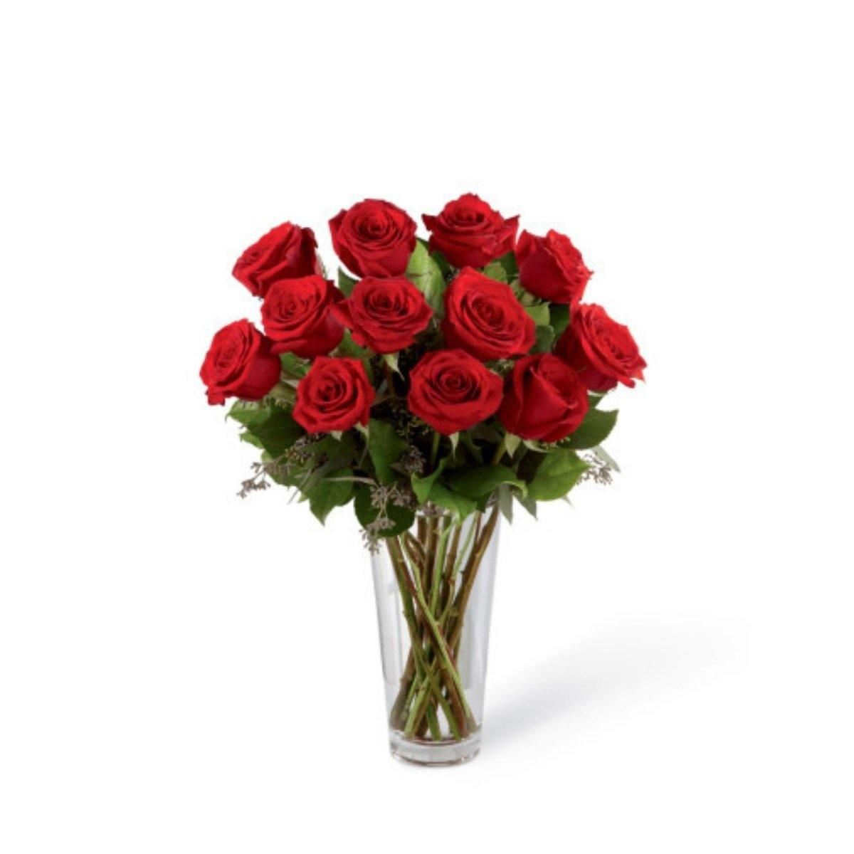 The FTD Red Rose Sympathy Bouquet - Shalimar Flower Shop