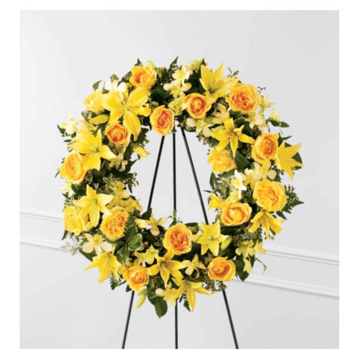 The FTD Ring of Friendship Wreath - Shalimar Flower Shop