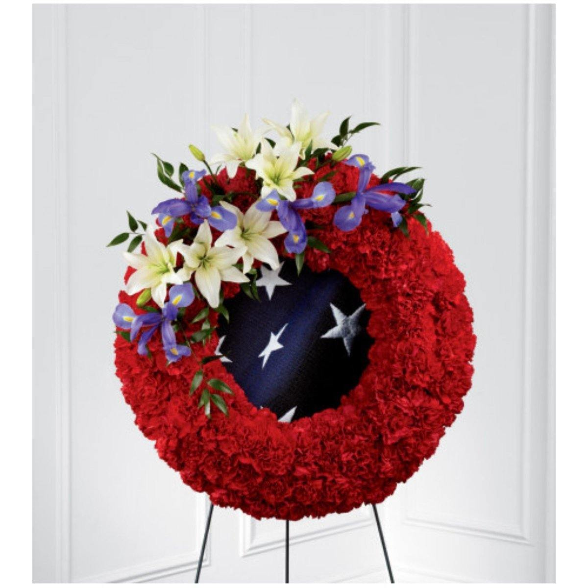 The FTD® To Honor One's Country Easel Wreath - Shalimar Flower Shop