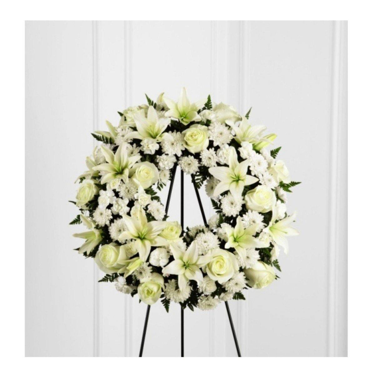 The FTD® Treasured Tribute Wreath - Shalimar Flower Shop