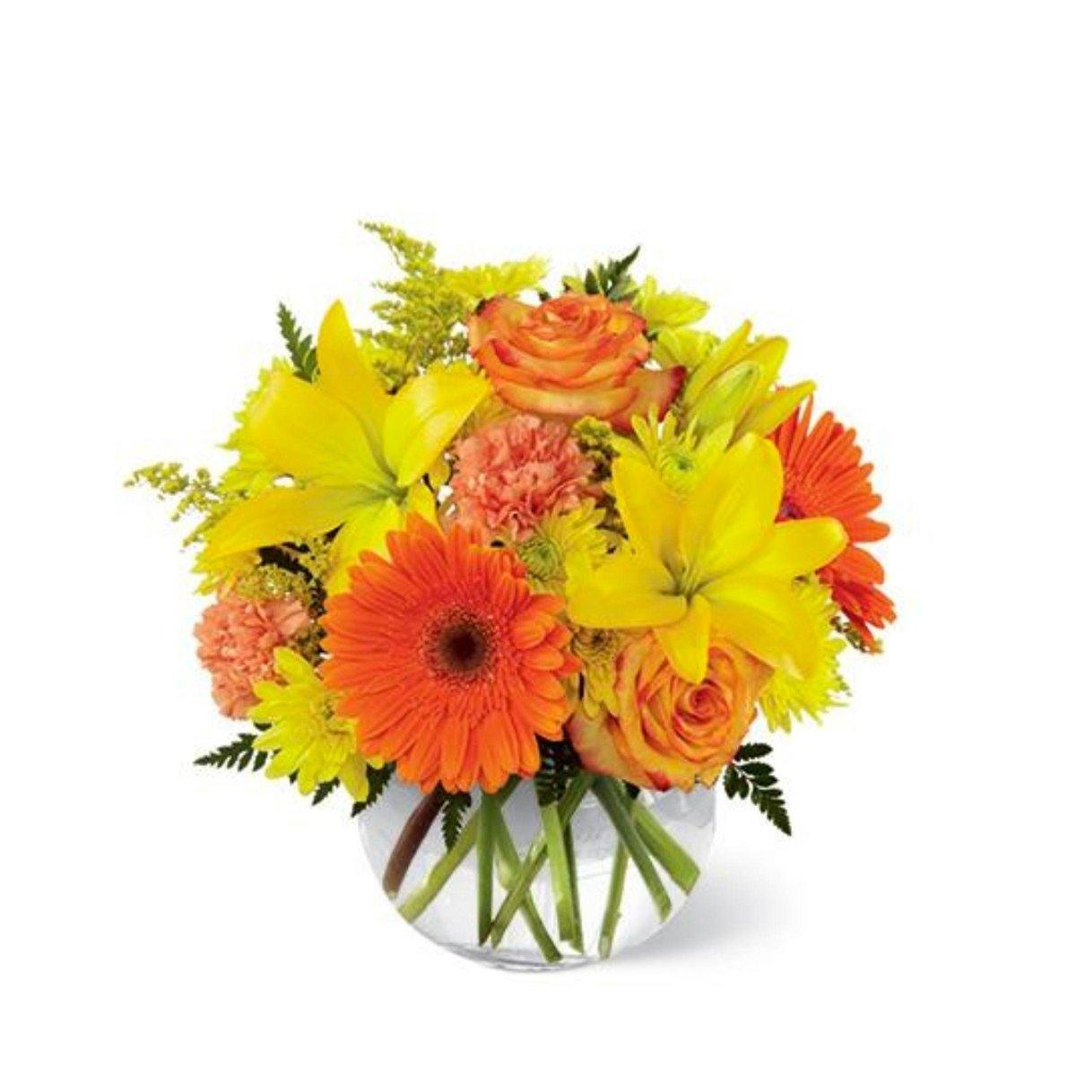 The FTD® Vibrant Views Bouquet in a Bubble Bowl - Shalimar Flower Shop