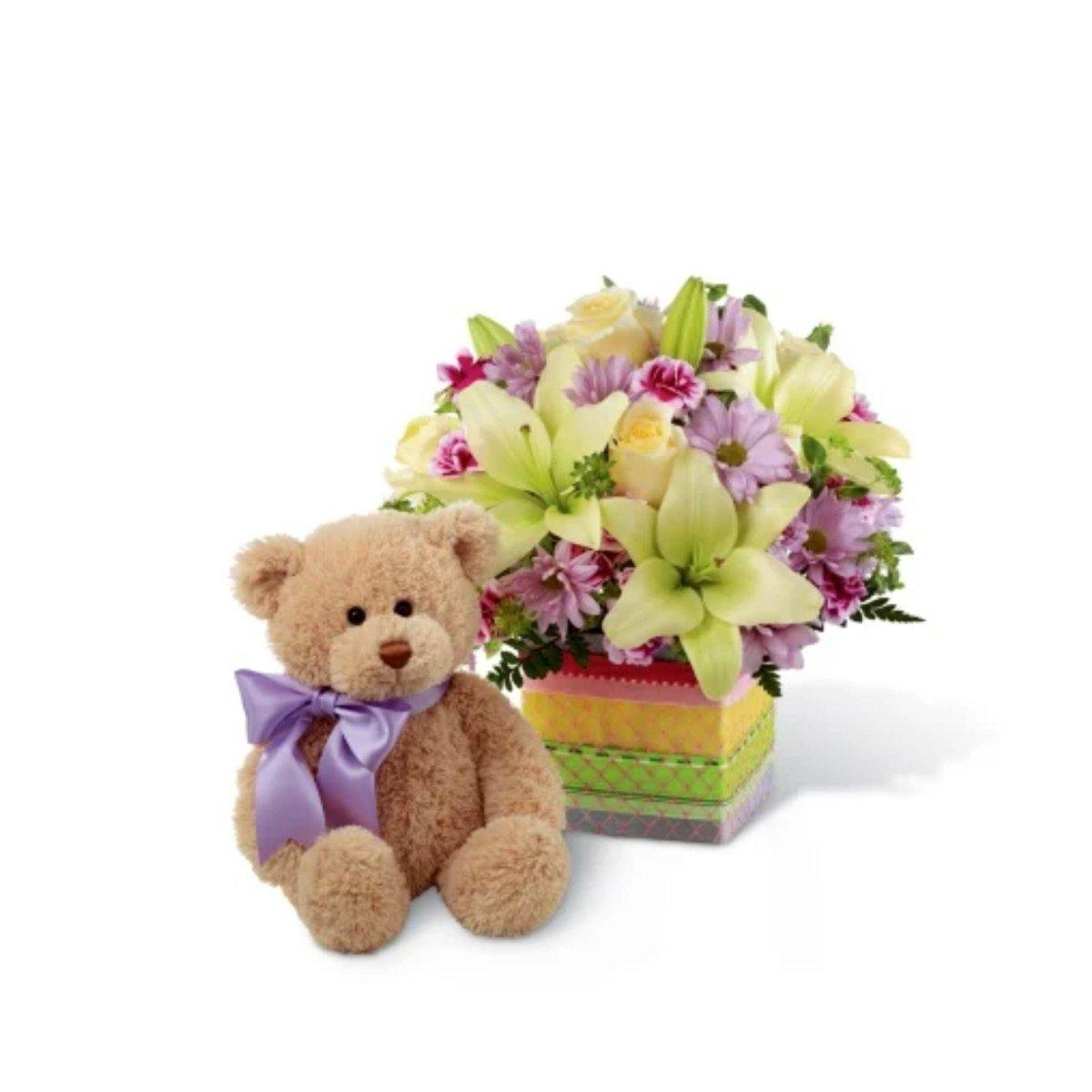 The FTD® Welcome™ Bear Bouquet - Shalimar Flower Shop