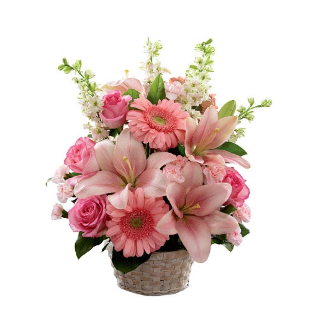 The FTD® Whispering Love Pink Arrangement - Shalimar Flower Shop