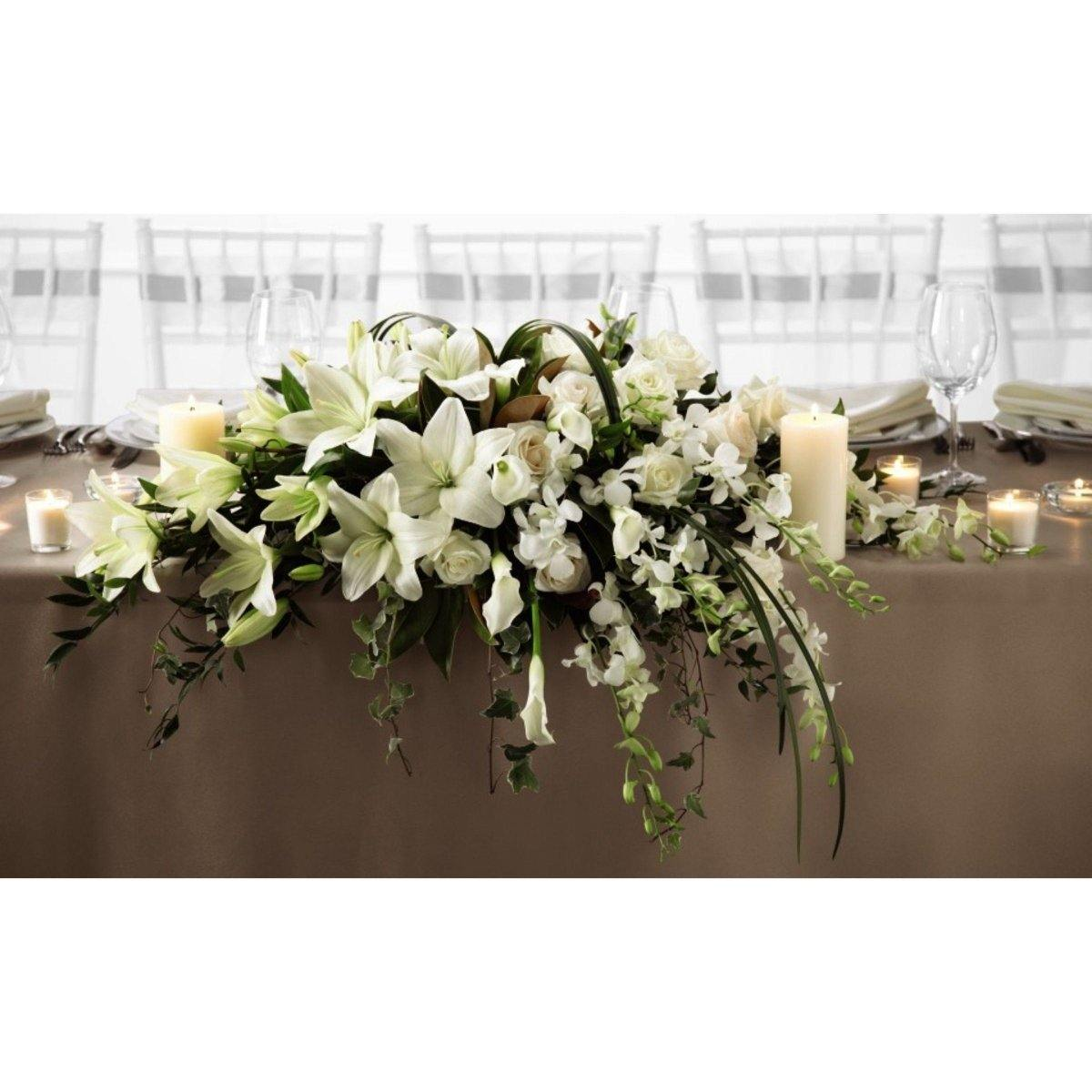The FTD White Linen Arrangement - Shalimar Flower Shop
