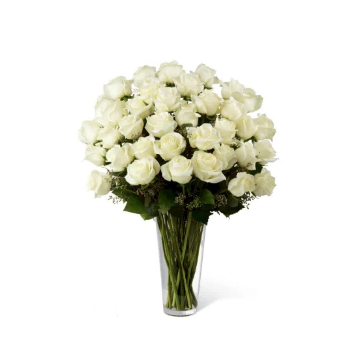 The FTD® White Rose Bouquet - Exquisite - Shalimar Flower Shop