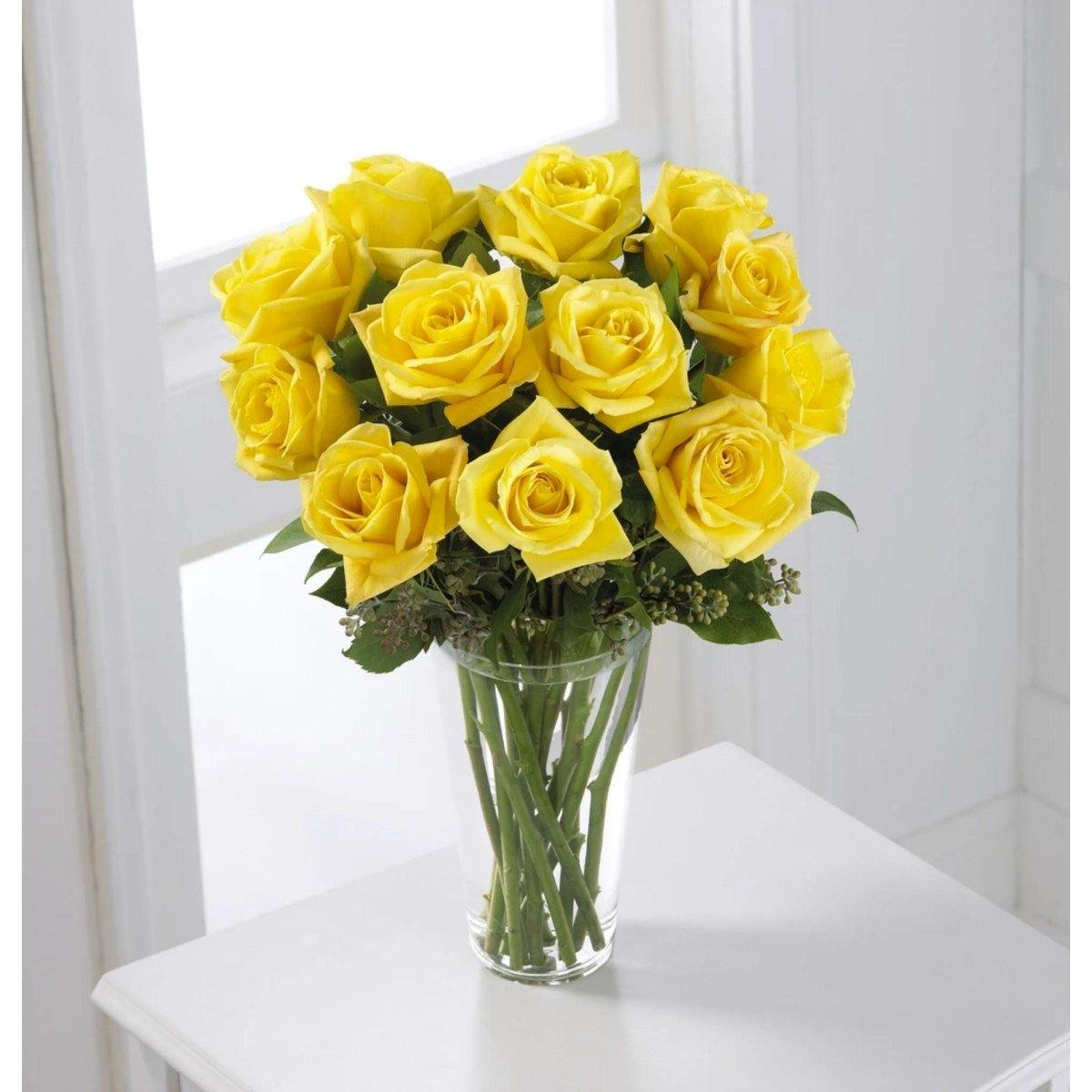 The FTD® Yellow Rose Bouquet - Shalimar Flower Shop