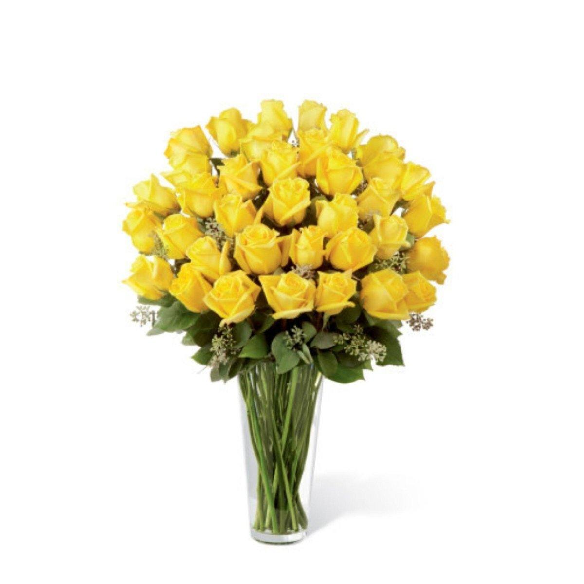 The FTD Yellow Rose Bouquet - Exquisite - Shalimar Flower Shop