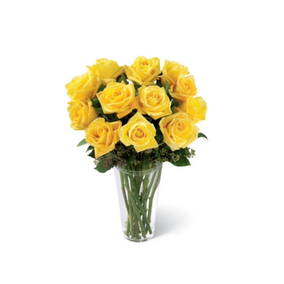 The FTD® Yellow Rose Sympathy Bouquet - Shalimar Flower Shop