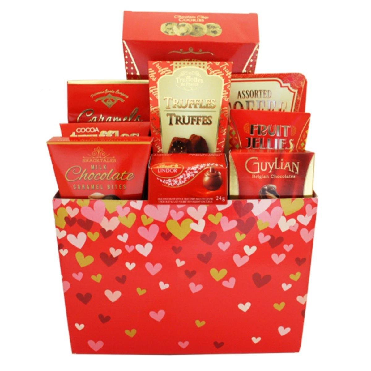 Valentine's Delight Gift Basket - Shalimar Flower Shop