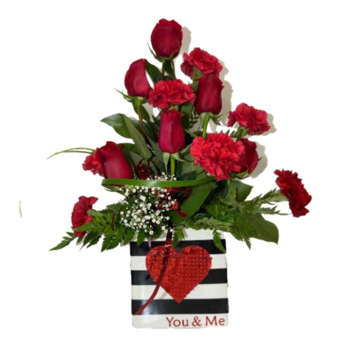 You & Me Arrangement - Shalimar Flower Shop