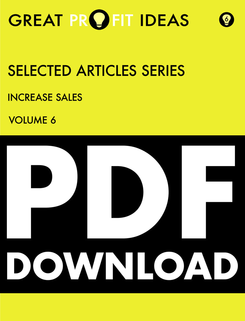 PDF Download - GPI Selected Articles Series - Sales & Marketing - Increasing Sales - Volume 6