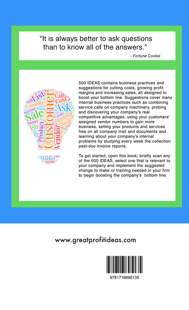 Ebook - Great Profit Ideas - 500 IDEAS