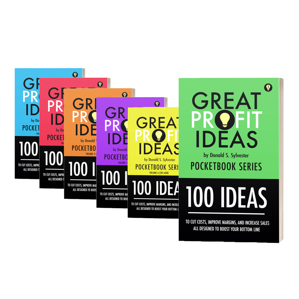 BUNDLE - Great Profit Ideas - Pocketbook Series Bundle - 600 Ideas - Volumes 1-6