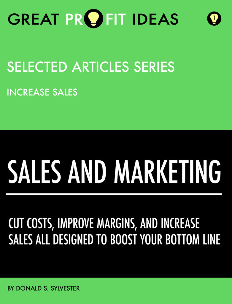PDF Download - GPI Selected Articles Series - Sales & Marketing - Increasing Sales - Volume 1