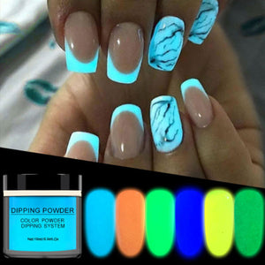 NailDeco+ Glow-In-The-Dark Dipping Powder