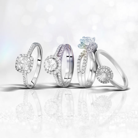 Single & Double Halo Rings