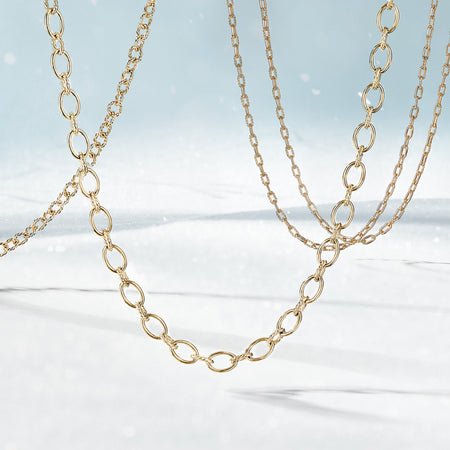 Solid 14k Gold Chain Necklaces