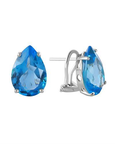 Magnolia Brand New Earring with 10ctw topaz 14K White gold