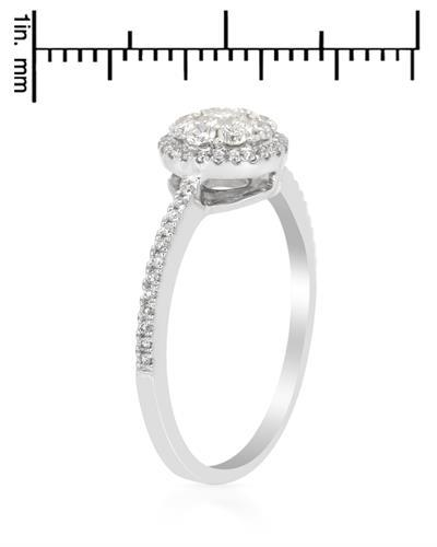 Brand New Ring with 0.5ctw diamond 14K White gold