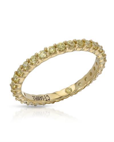 Brand New Ring with 0ctw cubic zirconia  Yellow alloy