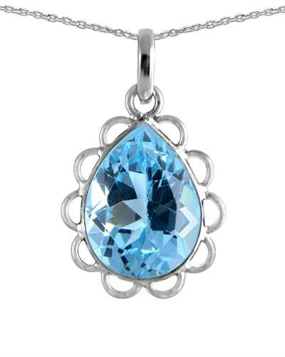 Brand New Necklace with 4.1ctw topaz 925 Silver sterling silver
