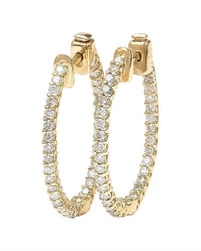 1.75 Carat Natural Diamond 14K Solid Yellow Gold Earrings
