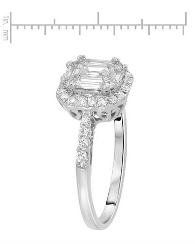 Whitehall Brand New Ring with 0.78ctw of Precious Stones - diamond and diamond 14K White gold