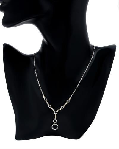 Brand New Necklace with 0.57ctw diamond 14K Two tone gold